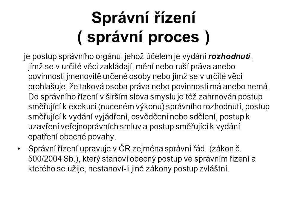 Správní řízení ( správní proces )