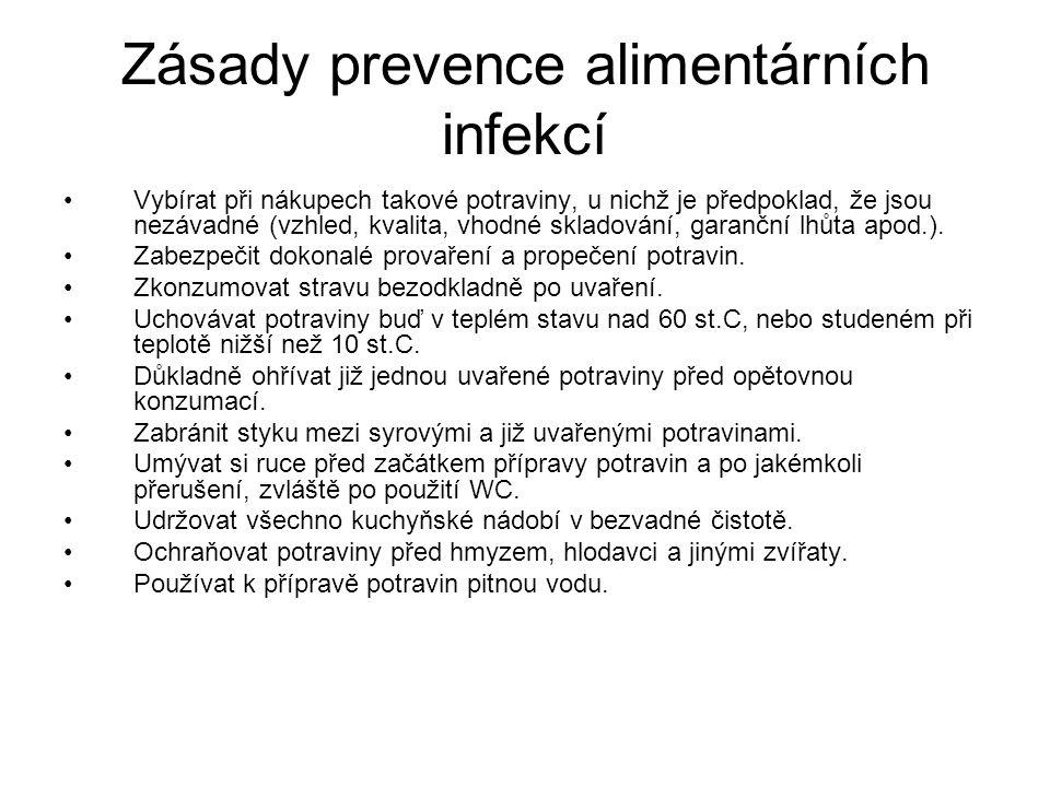 Zásady prevence alimentárních infekcí