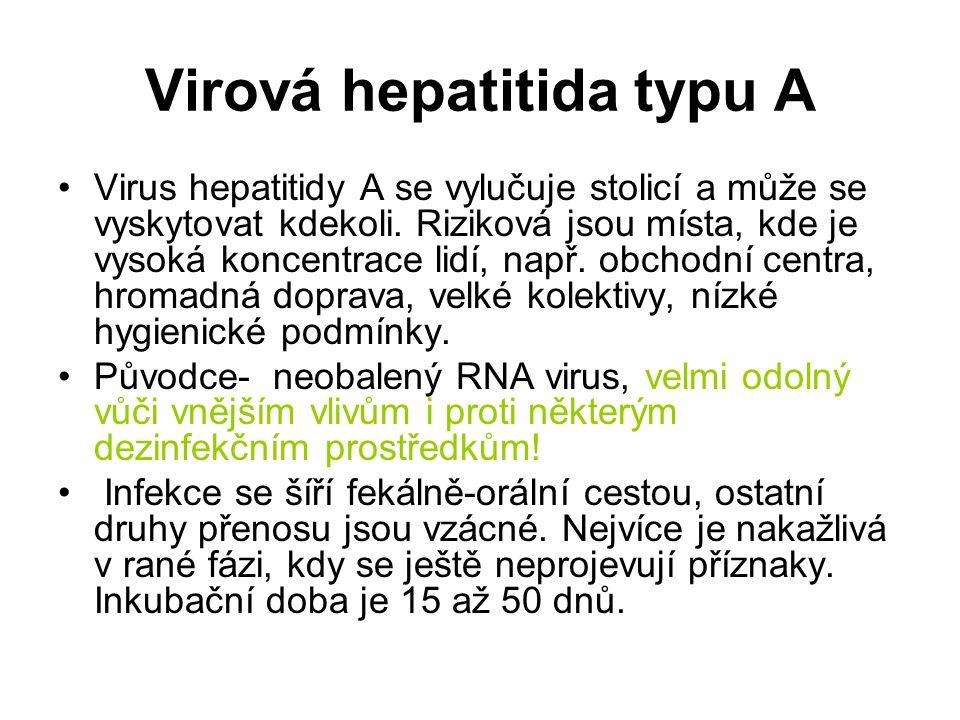 Virová hepatitida typu A