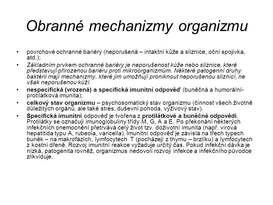 Obranné mechanizmy organizmu