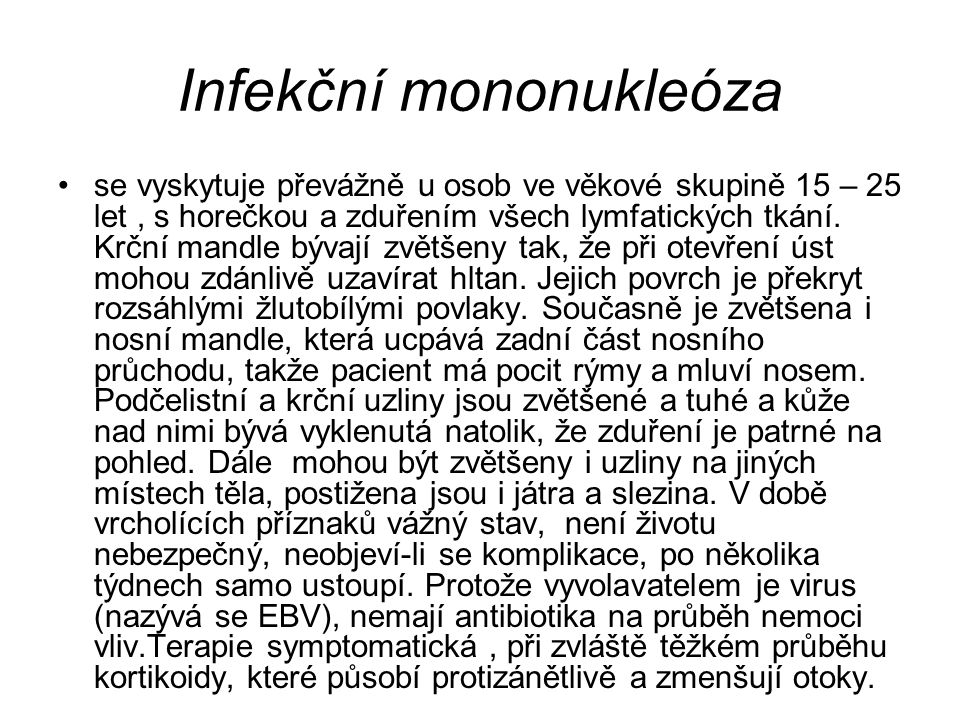 Infekční mononukleóza