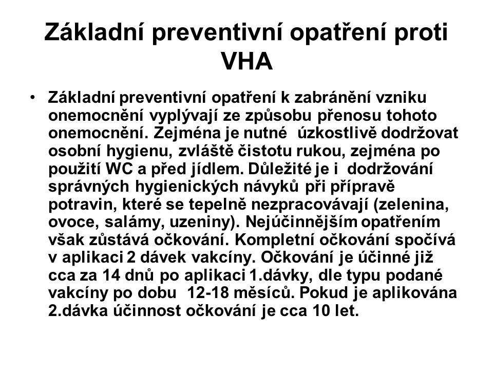 Základní preventivní opatření proti VHA