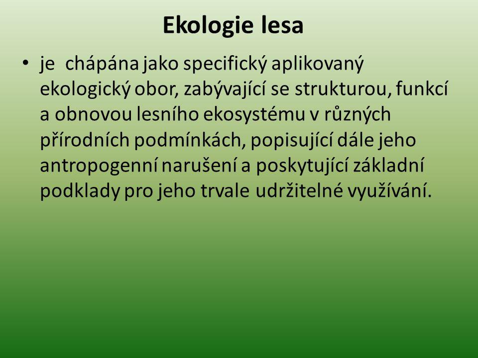 Ekologie lesa