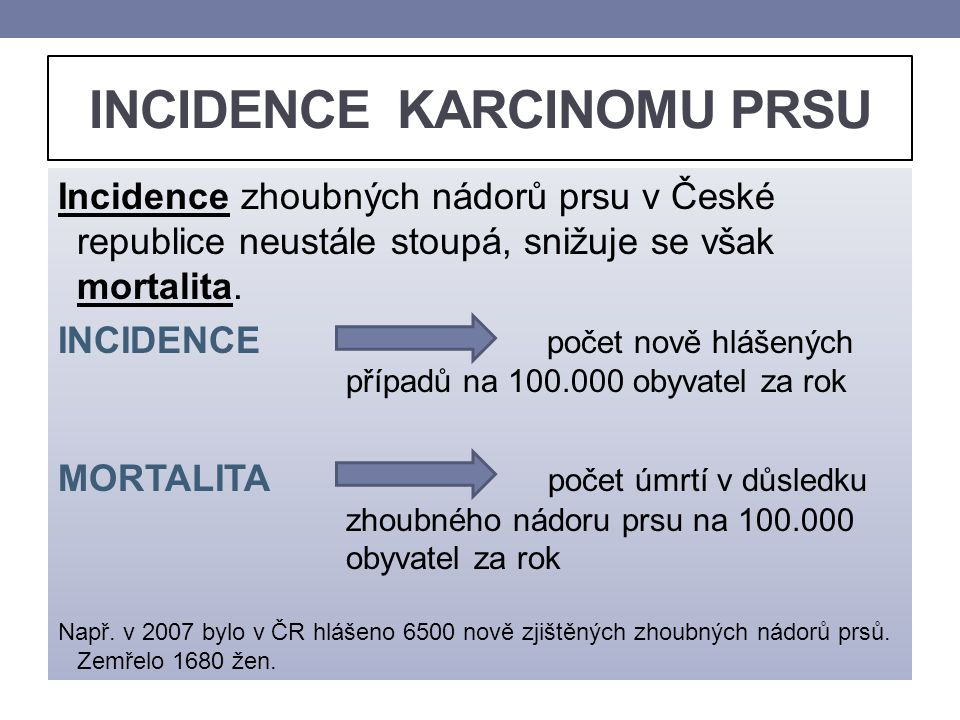 INCIDENCE KARCINOMU PRSU