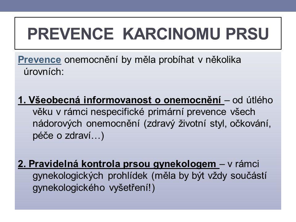 PREVENCE KARCINOMU PRSU