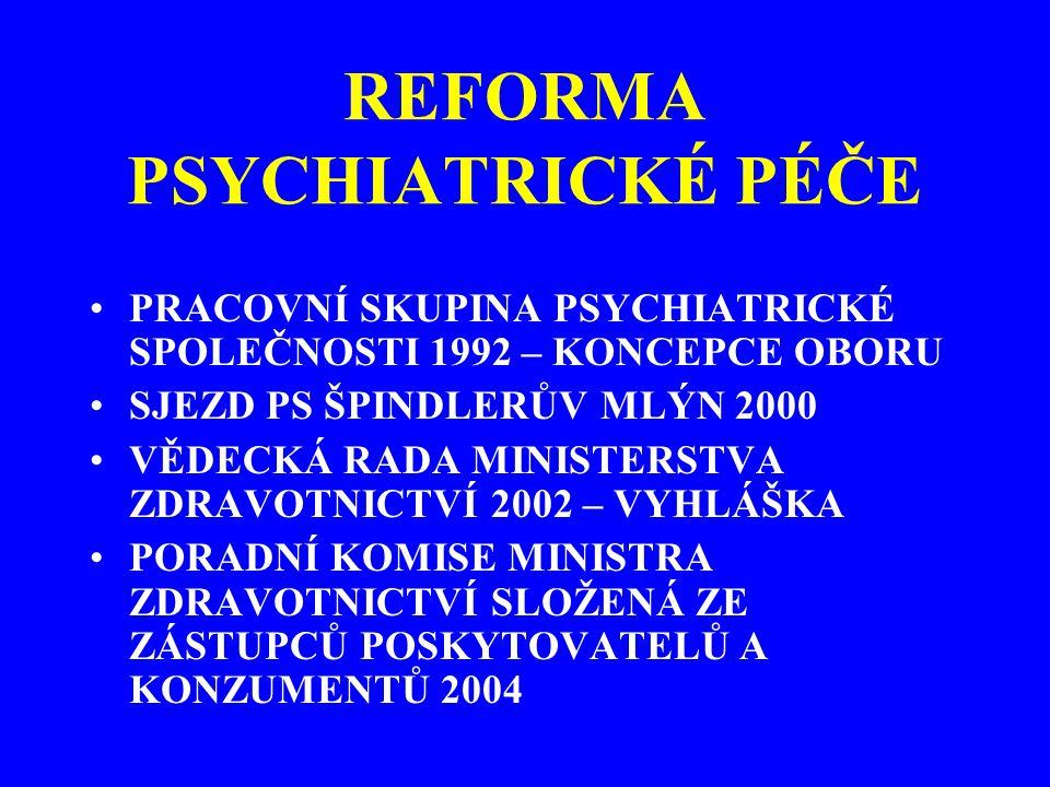 REFORMA PSYCHIATRICKÉ PÉČE