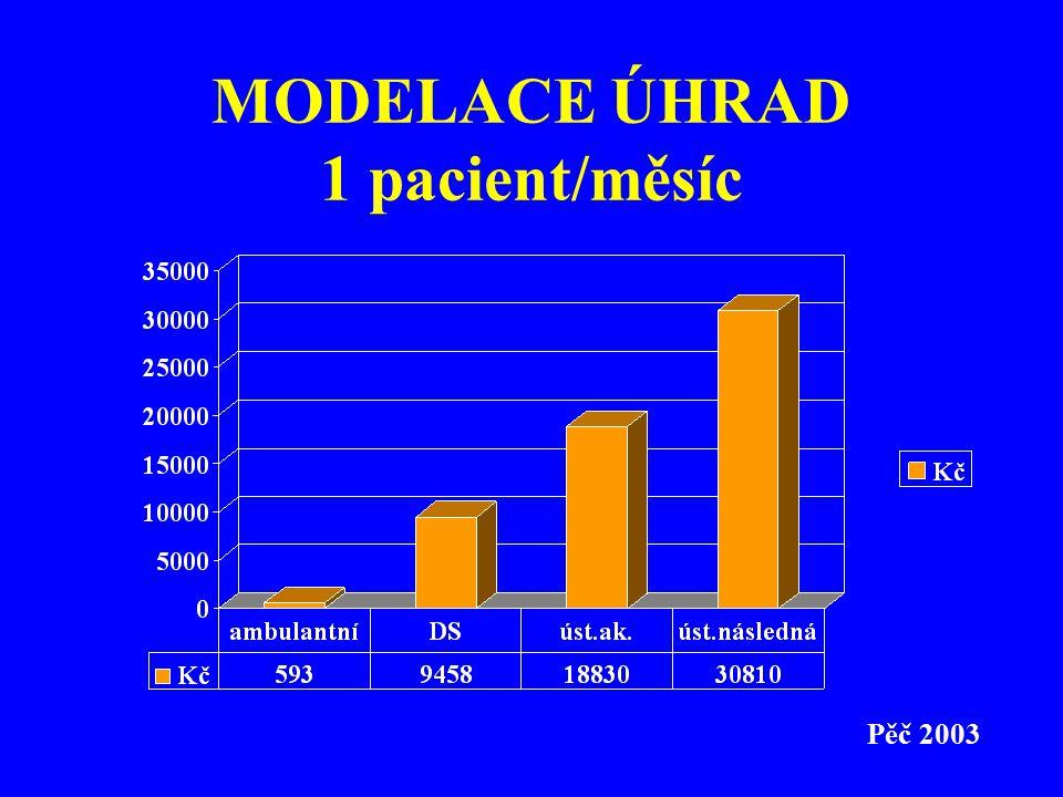 MODELACE ÚHRAD 1 pacient/měsíc