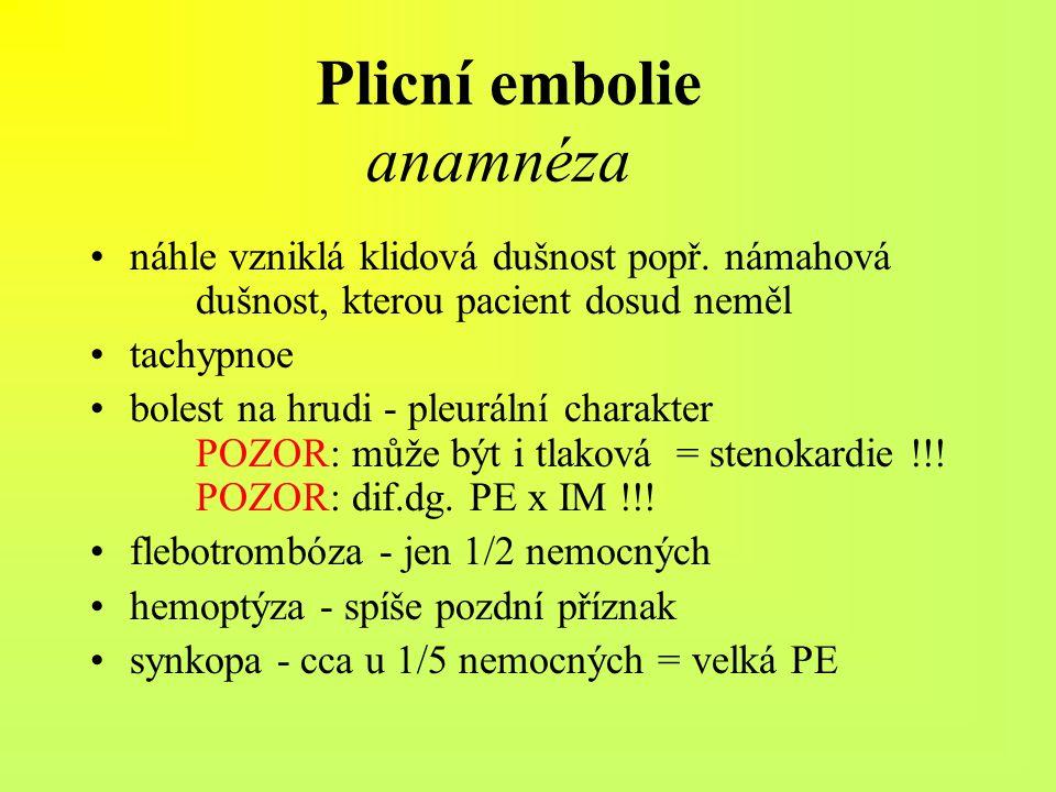 Plicní embolie anamnéza