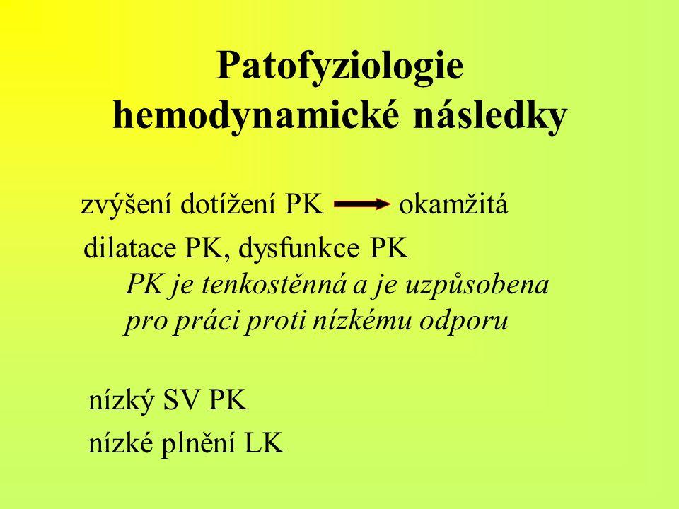 Patofyziologie hemodynamické následky