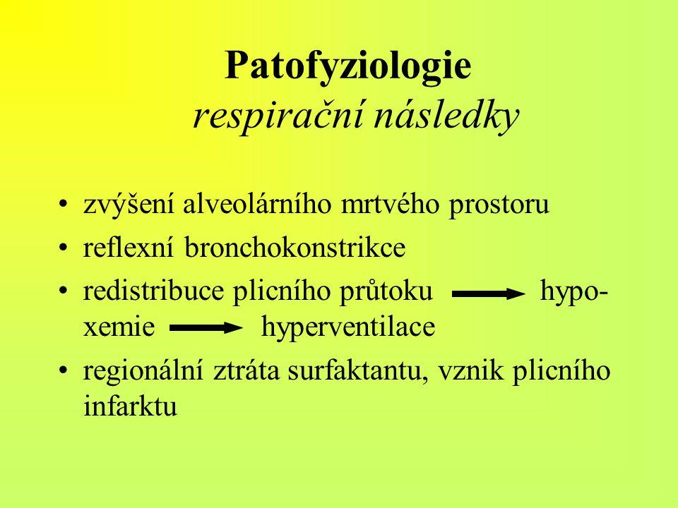 Patofyziologie respirační následky