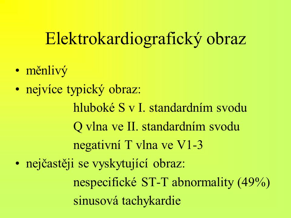 Elektrokardiografický obraz