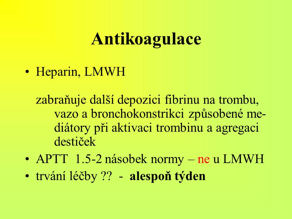 Antikoagulace