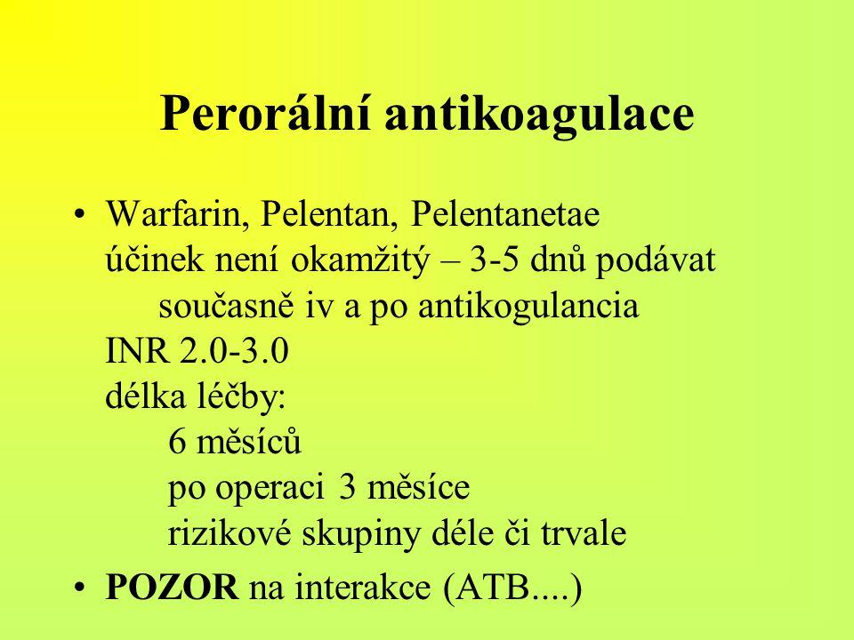 Perorální antikoagulace