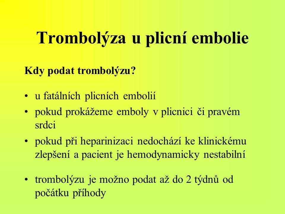 Trombolýza u plicní embolie