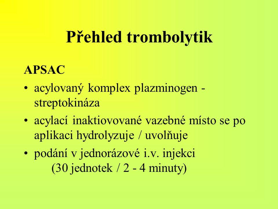 Přehled trombolytik APSAC