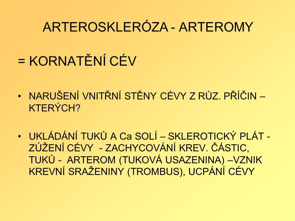 ARTEROSKLERÓZA - ARTEROMY