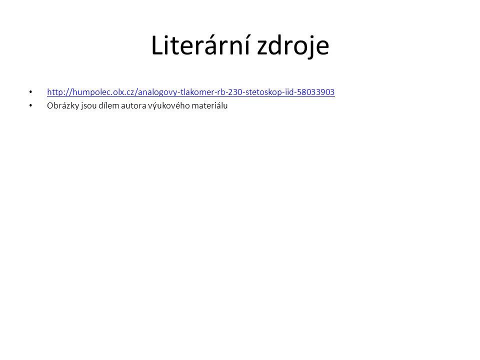 Literární zdroje http://humpolec.olx.cz/analogovy-tlakomer-rb-230-stetoskop-iid-58033903.