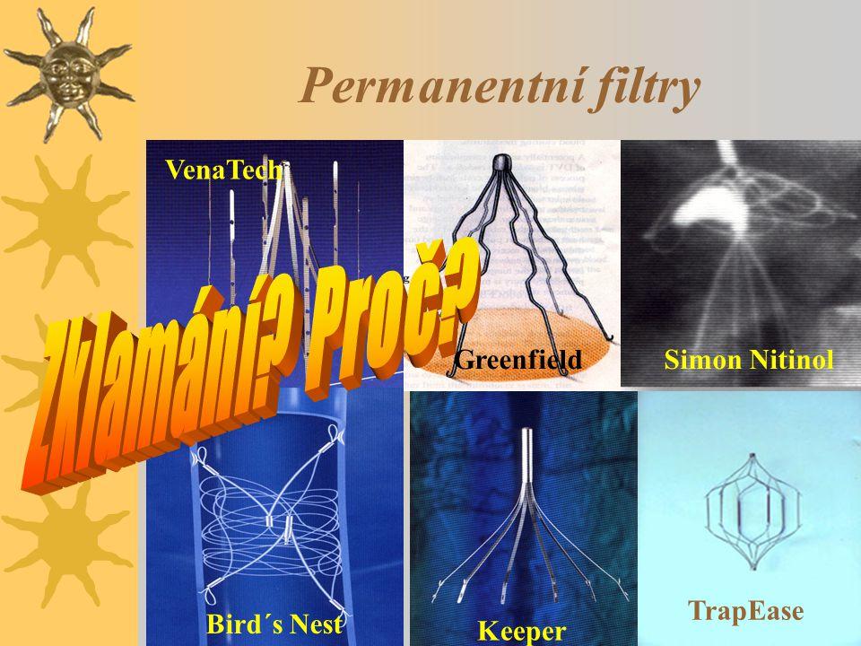 Permanentní filtry Zklamání Proč VenaTech Greenfield Simon Nitinol