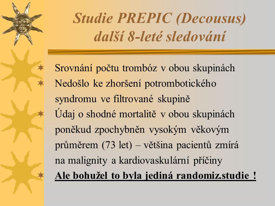 Studie PREPIC (Decousus) další 8-leté sledování