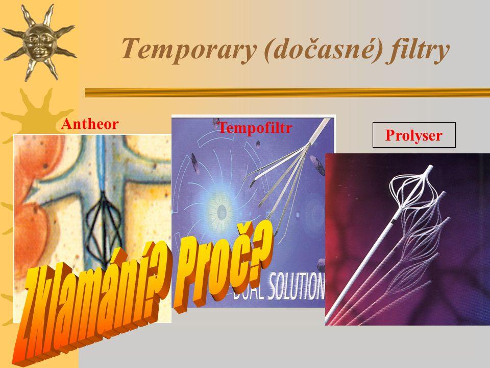 Temporary (dočasné) filtry