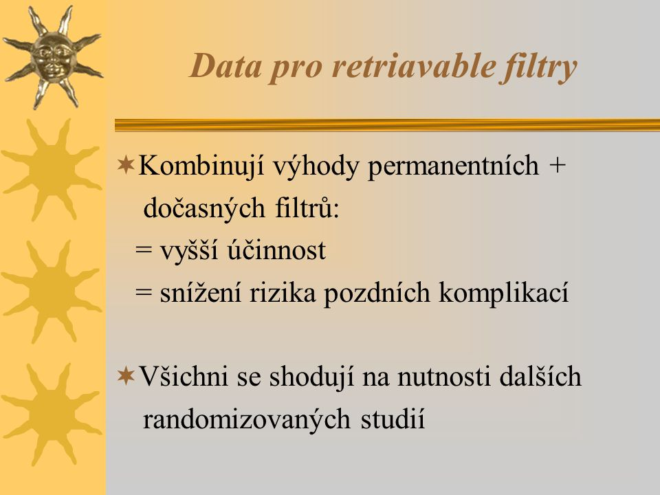 Data pro retriavable filtry
