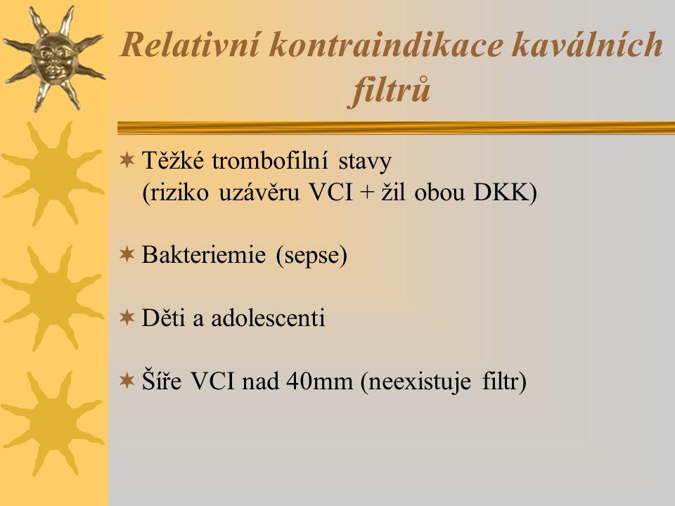 Relativní kontraindikace kaválních filtrů