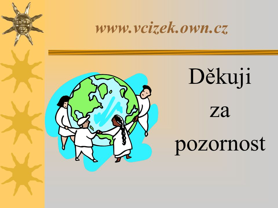 www.vcizek.own.cz Děkuji za pozornost