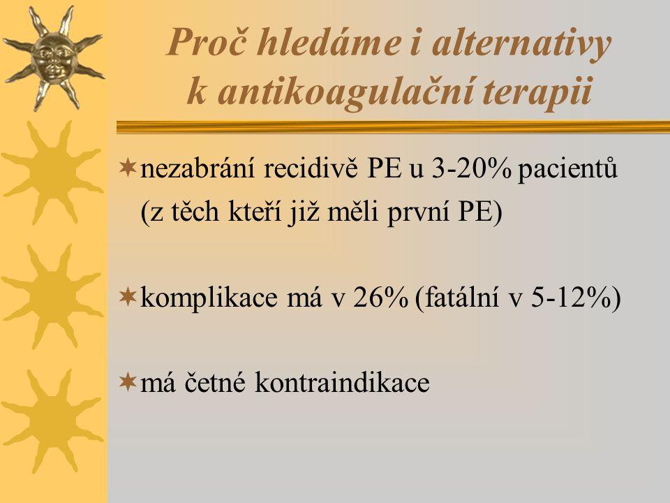 Proč hledáme i alternativy k antikoagulační terapii