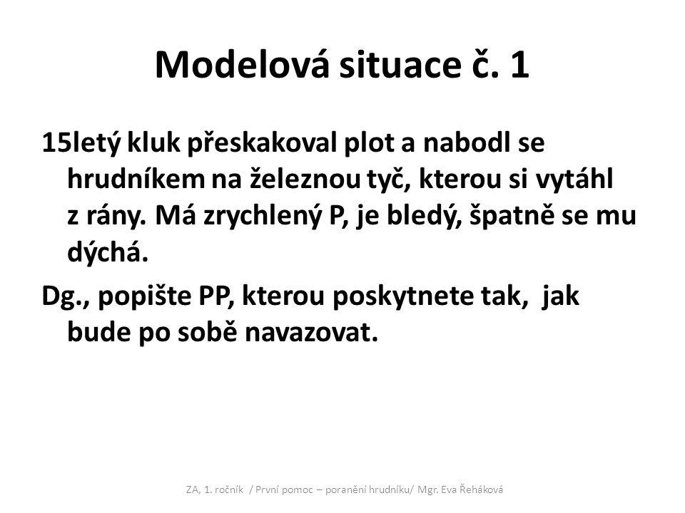 ZA, 1. ročník / První pomoc – poranění hrudníku/ Mgr. Eva Řeháková