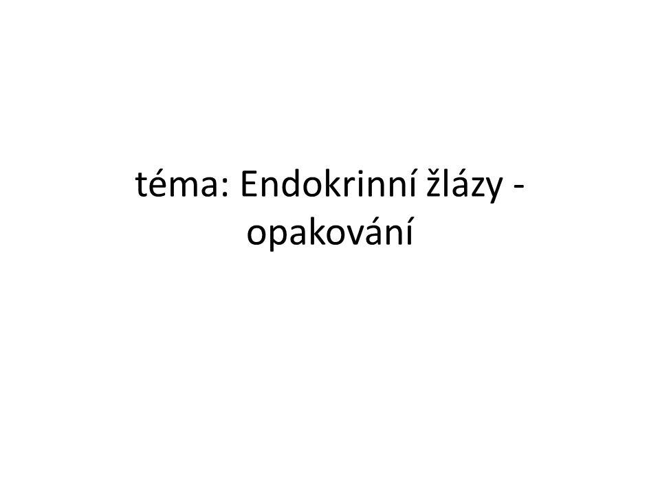 téma: Endokrinní žlázy - opakování