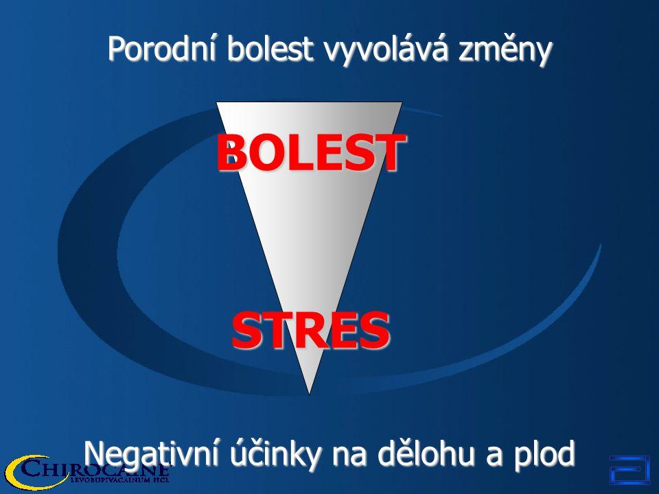 BOLEST STRES Porodní bolest vyvolává změny