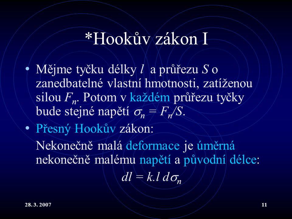 *Hookův zákon I