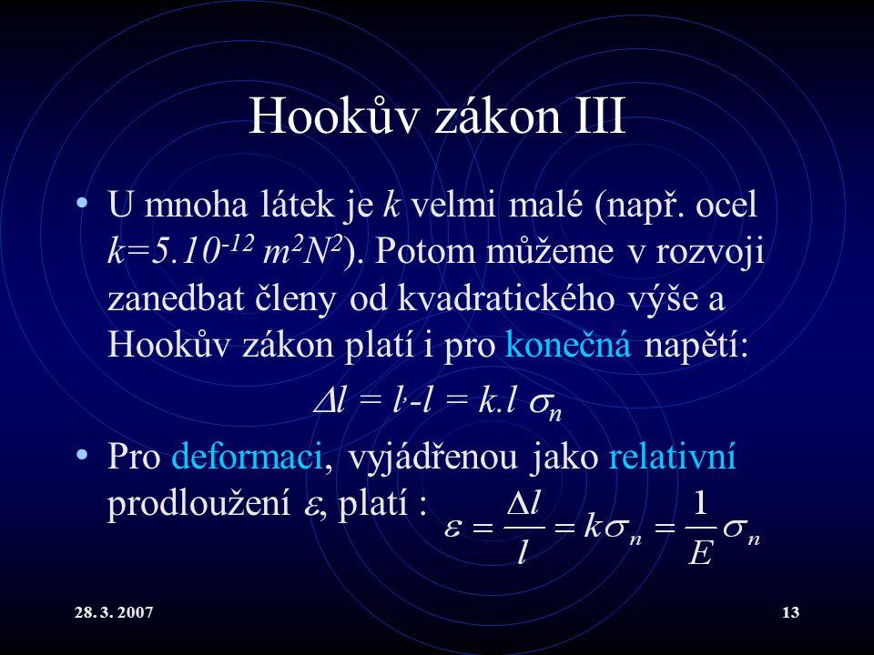 Hookův zákon III