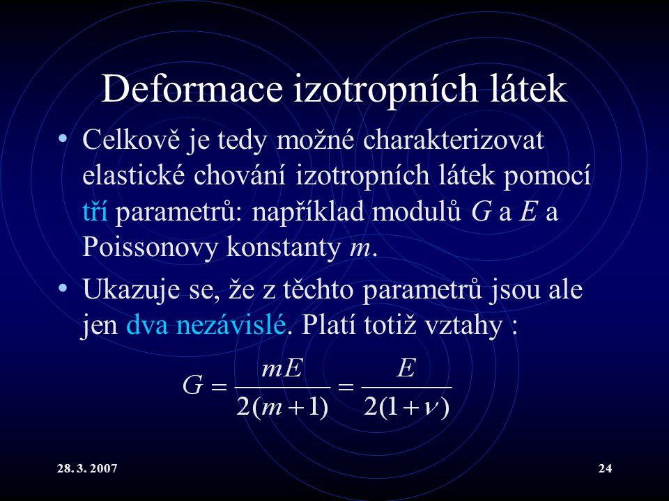 Deformace izotropních látek