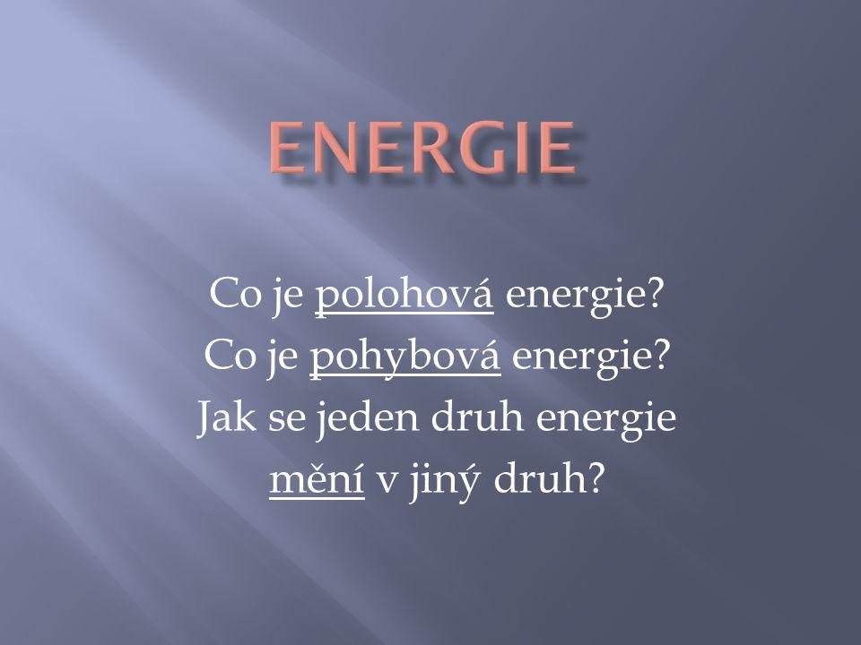 Jak se jeden druh energie