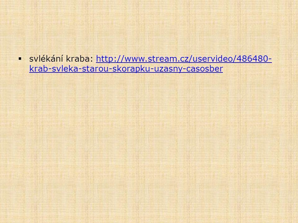 svlékání kraba: http://www. stream