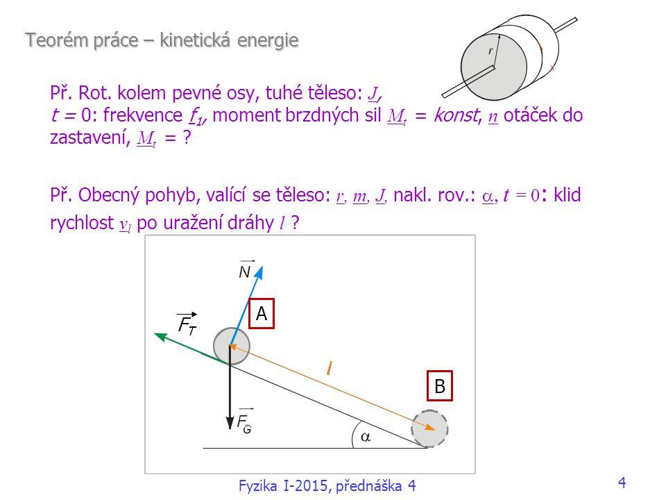 Teorém práce – kinetická energie