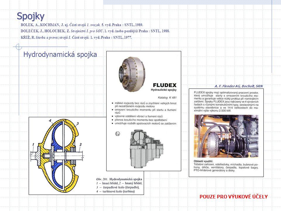 Spojky Hydrodynamická spojka POUZE PRO VÝUKOVÉ ÚČELY