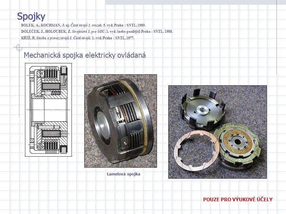 Spojky Mechanická spojka elektricky ovládaná POUZE PRO VÝUKOVÉ ÚČELY