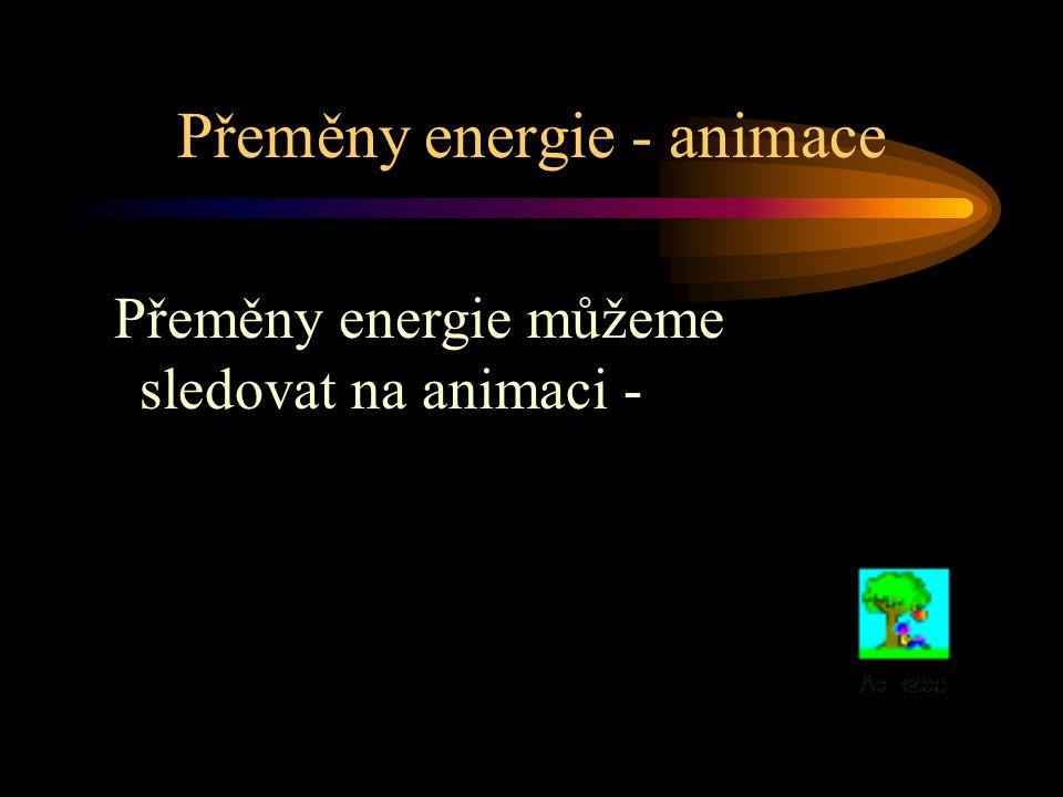 Přeměny energie - animace