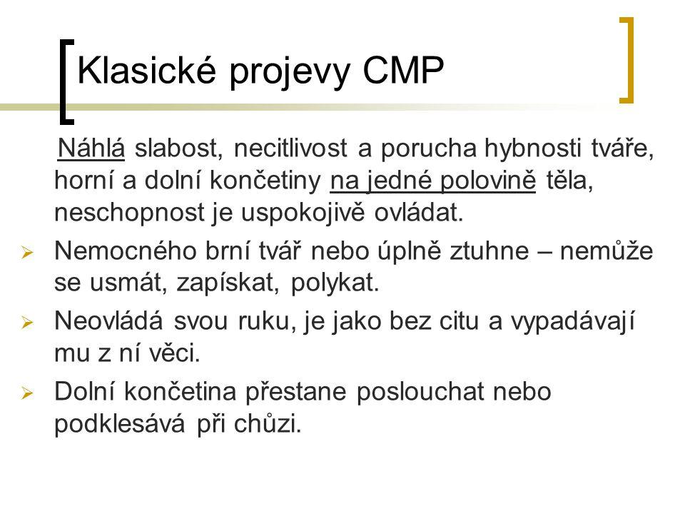 Klasické projevy CMP