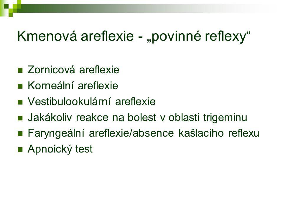 """Kmenová areflexie - """"povinné reflexy"""