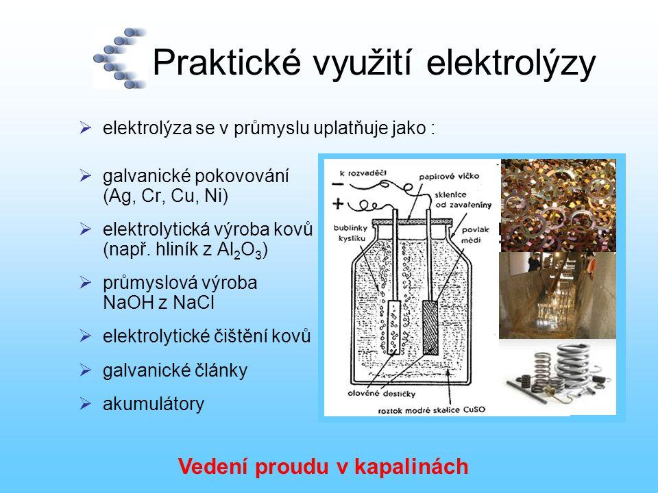 Praktické využití elektrolýzy
