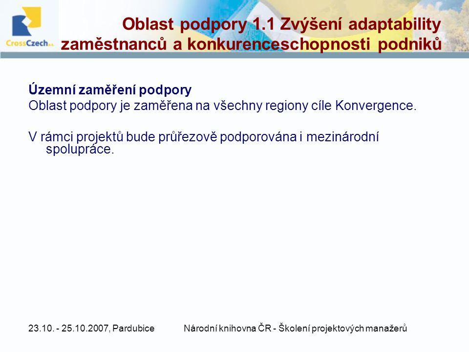 Národní knihovna ČR - Školení projektových manažerů