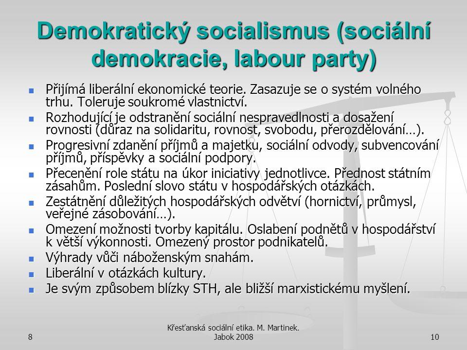 Demokratický socialismus (sociální demokracie, labour party)
