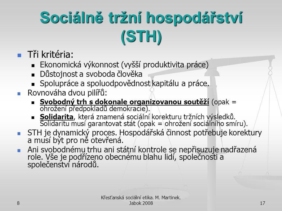 Sociálně tržní hospodářství (STH)