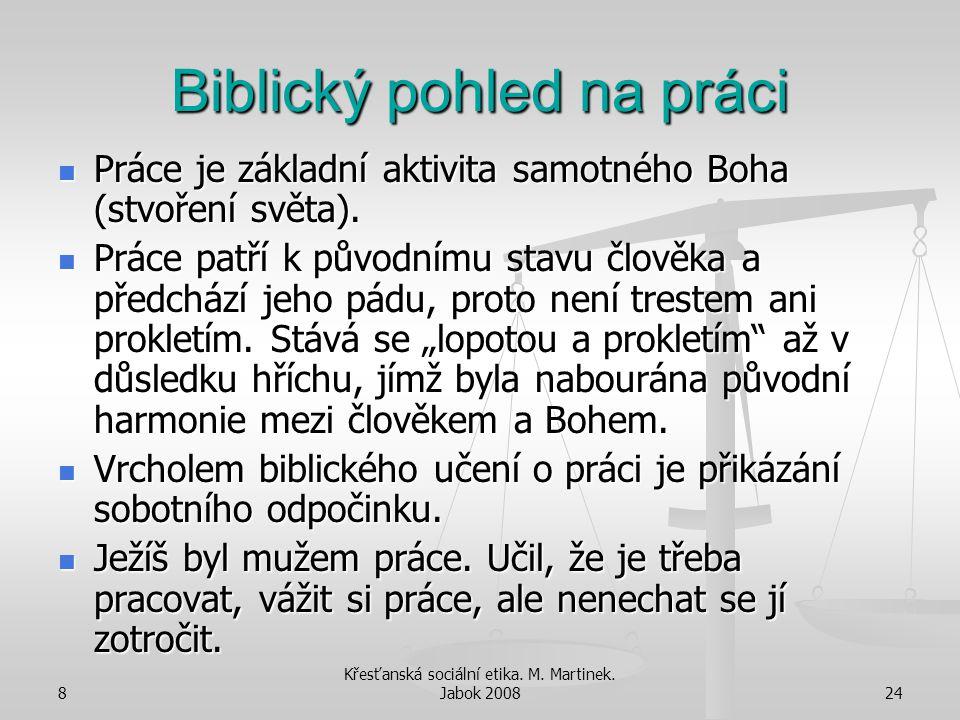 Biblický pohled na práci