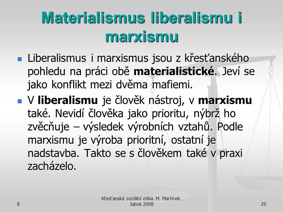 Materialismus liberalismu i marxismu