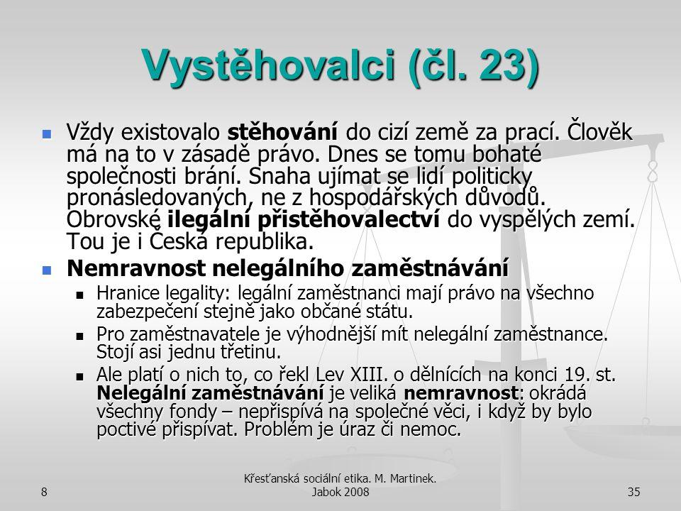 Křesťanská sociální etika. M. Martinek. Jabok 2008