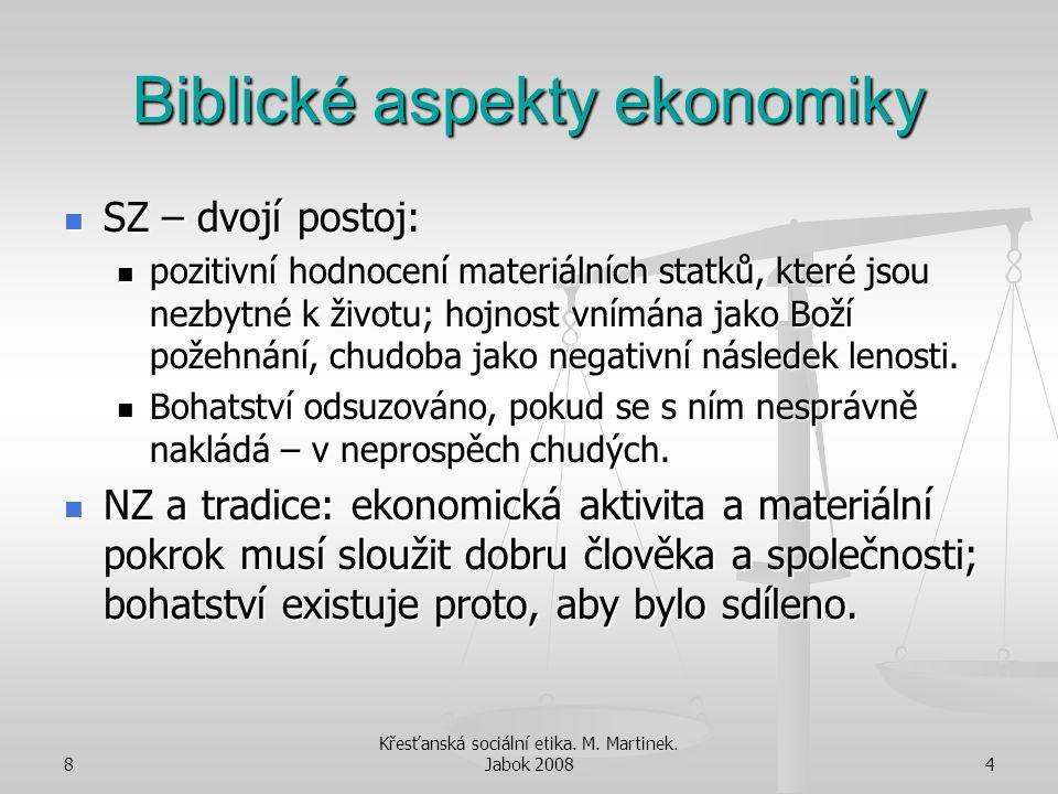 Biblické aspekty ekonomiky